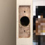 【鳥栖 部屋のドアに鍵を付けたい】 扉を加工して鍵取付け。