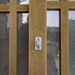 【久留米 鍵】 玄関 木製引き戸 錠前取替え